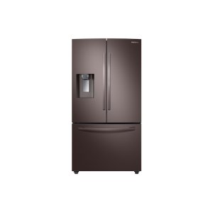 Samsung28 cu. ft. 3-Door French Door, Full Depth Refrigerator with Food Showcase in Tuscan Stainless Steel