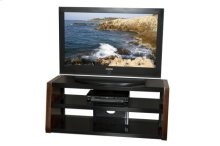 "48"" Wide Stand, Solid Wood Walnut Finish Accents, Accommodates Most 52"" and Smaller Flat Panels - No Tools Required"