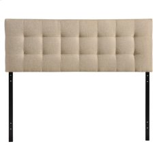 Lily Queen Upholstered Fabric Headboard in Beige Product Image