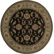Agra Black Round 8ft 8in X 8ft 8in