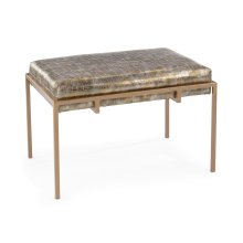 Metal Gold Upholstered Bench