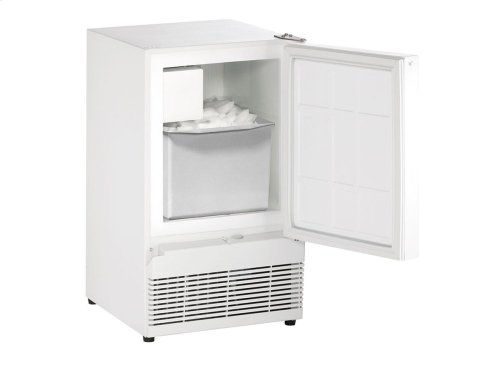 """Ada Series 15"""" Crescent Ice Maker With White Solid Finish and Field Reversible Door Swing (115 Volts / 60 Hz)"""
