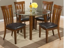 Plantation Slat Back Chair With Upholstered Seat