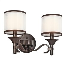 Lacey Collection Lacey 2 Light Bath Light in Mission Bronze