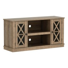 Update any room with this TV console that accommodates most flat screen TVs...