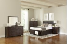 Jackson Lodge 4 Piece King Bedroom Set: Bed, Dresser, Mirror, Nightstand