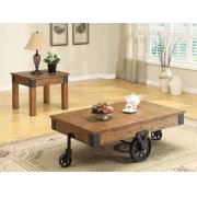 Country Distressed Rustic Brown End Table Product Image