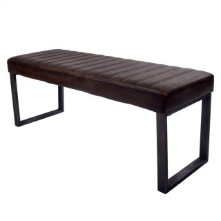 Jasper KD PU Bench, Distressed Bronze