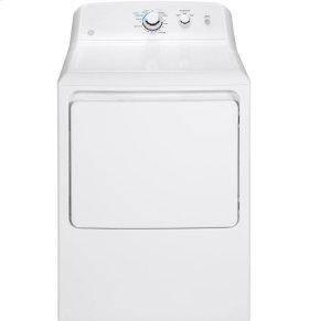 GE® 6.2 cu. ft. Capacity aluminized alloy drum Electric Dryer