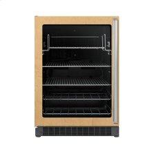 """24"""" Custom Panel Beverage Center - DFUR (Left Hinge Clear Door, Black interior)"""