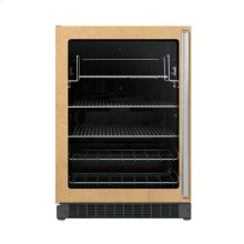 "24"" Custom Panel Beverage Center - DFUR (Left Hinge Clear Door, Black interior)"