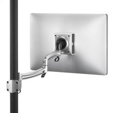 KONTOUR Dual Arm Pole Mount, Single Monitor