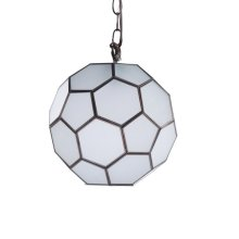 Frosted Glass Faceted Ball Pendant