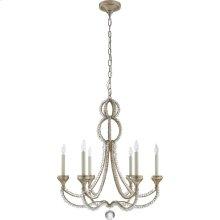 Visual Comfort NW5030VS Niermann Weeks Milan 6 Light 29 inch Venetian Silver Chandelier Ceiling Light, Niermann Weeks, Medium, Clear Crystal