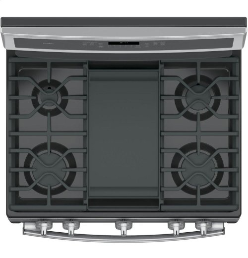 """GE Profile Series 30"""" Free-Standing Gas Convection Range"""