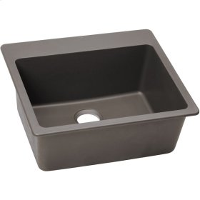 "Elkay Quartz Classic 25"" x 22"" x 9-1/2"", Single Bowl Drop-in Sink, Greige"
