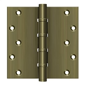 """6"""" X 6"""" Square Hinges, Ball Bearings - Antique Brass"""