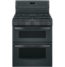 "GE Profile Series 30"" Free-Standing Gas Double Oven Convection Range"