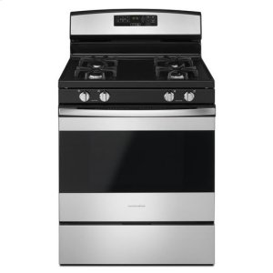 30-inch Gas Range with Self-Clean Option - stainless steel - STAINLESS STEEL