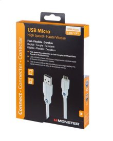 High Performance Micro USB Cable - 1.5 ft. / High Speed USB A to Micro B
