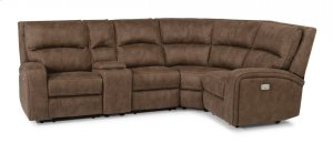 Rhapsody Fabric Power Reclining Sectional with Power Headrests