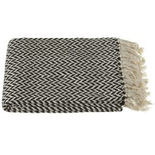 Black & Cream Arrow Stripe Throw