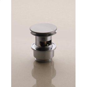 "1 1/4"" slotted push operated waste - Natural brass"