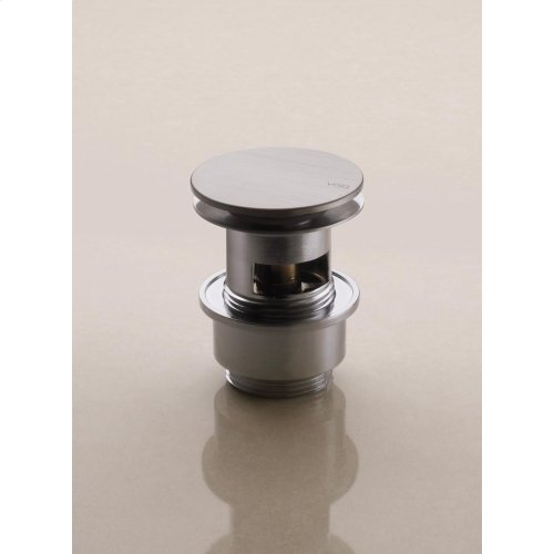 """1 1/4"""" slotted push operated waste - Natural brass"""