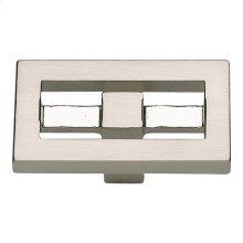 Nobu Rectangle Knob 1 3/4 Inch - Brushed Nickel