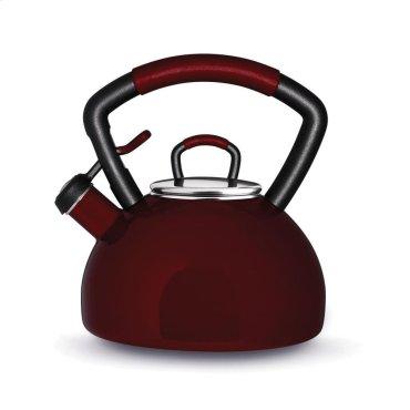 2.25 Quart Porcelain Enamel Teakettle - Warm Berry