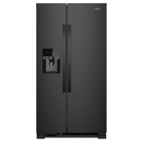 Whirlpool® 33-inch Wide Side-by-Side Refrigerator - 21 cu. ft. - Black