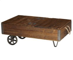 Carthage Rectangular Cocktail Table on Wheels