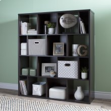 16-Cube Shelving Unit - Chocolate
