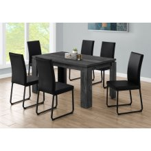 """DINING TABLE - 36""""X 60"""" / BLACK RECLAIMED WOOD-LOOK"""