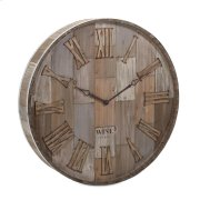Wine Barrel Wood Wall Clock Product Image
