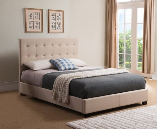 STR50MT Stratford Platform Bed - Queen, Taupe
