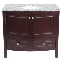Single 36 in. W Mahogany Finish Vanity Product Image