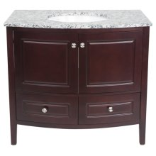 Single 36 in. W Mahogany Finish Vanity