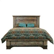 """Queen : 68"""" x 86"""" x 59"""" Urban Rustic Bed"""