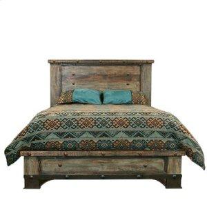 """King : 84"""" x 86"""" x 59"""" Urban Rustic Bed"""