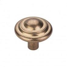 Aspen Button Knob 1 3/4 Inch - Light Bronze