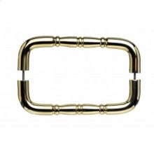 Nouveau Ring Door Pull Back to Back 8 Inch (c-c) - Polished Brass