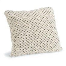Marcel White Macramé Pillow