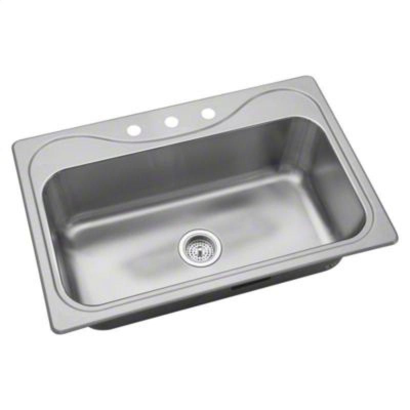 Single Basin Kitchen Sink 33 X 22 370473na in by sterling in pittsburgh pa southhaven single basin southhaven single basin sink 33 x 22 hidden workwithnaturefo