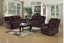 Chocolate 3pc. Reclining Set