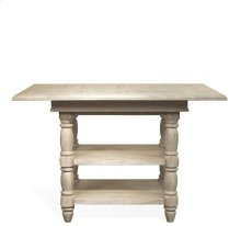 Regan Counter Height Dining Table Farmhouse White finish