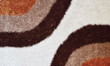 Shaggy rug, Brown and White color