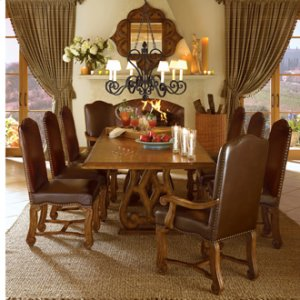 Barolo Grand Trestle Table and 6 Chairs