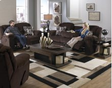 Recl Sofa w/3 Recl and Drop Down Table - Chocolate