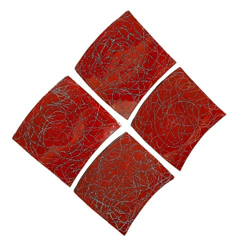 Curved Red Wall Art